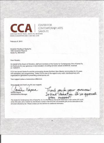Thanks.CCA
